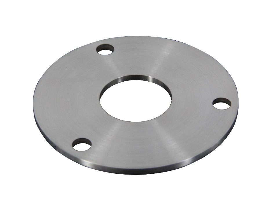 AISI Stainless Steel Railing Components / Post Base Plate With 3 Fixing Holes