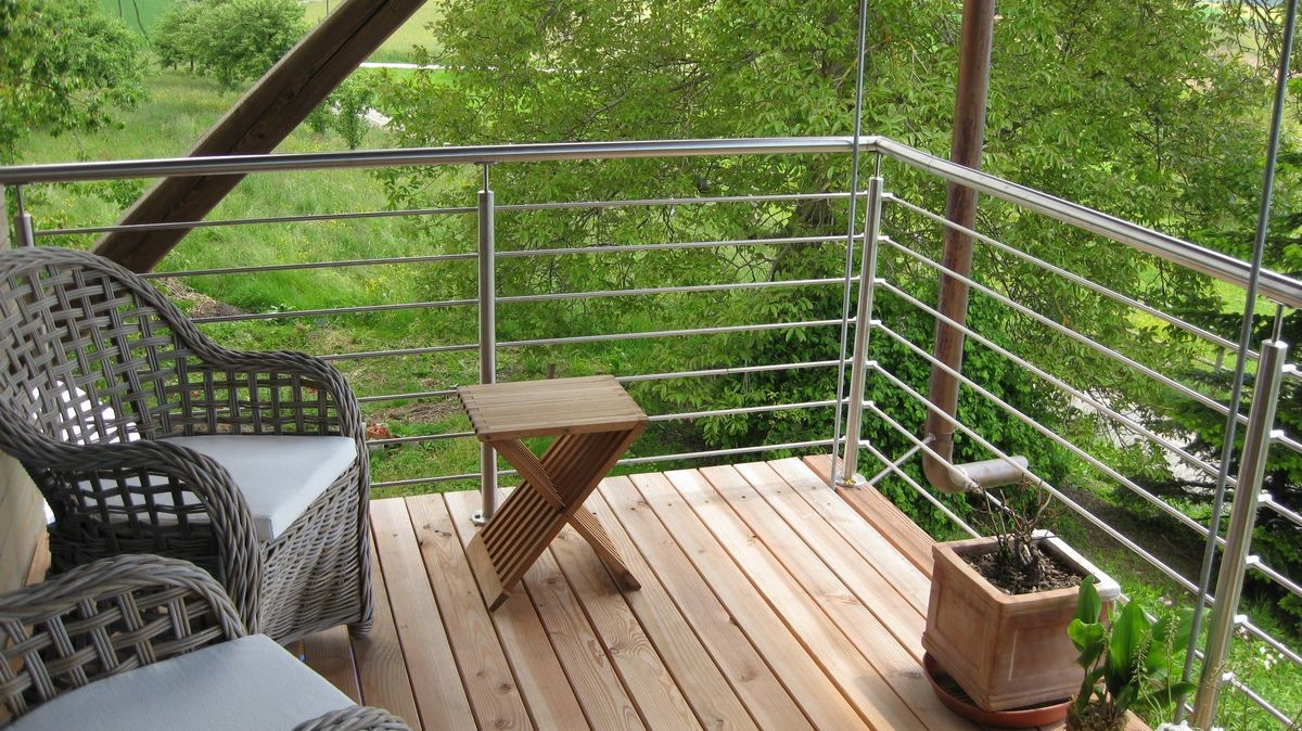 Outdoor Deck Balustrade Stainless Steel Cable Railing Systems