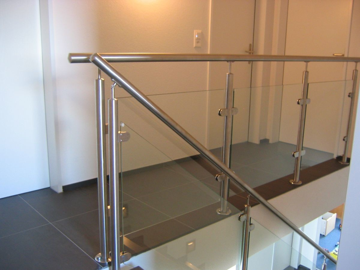Balcony Stainless Steel Railing Balusters 900mm - 1200mm Height Mirror / Satin Surface