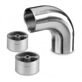 Stainless Steel Wood Handrail Connectors Brushed / Polished Type Available