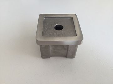 China Square Stainless Steel Threaded Pipe Cap 40×40mm With Corrosion Protection factory