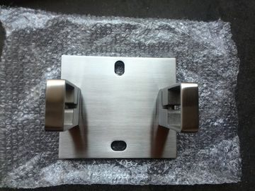 China SS304 316 Square Stainless Steel Balustrade Wall Mount Flange With Satin / Mirror Surface factory