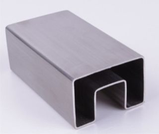V2A V4A Stainless Steel Square Tubing , Customizable SS Slotted Pipe