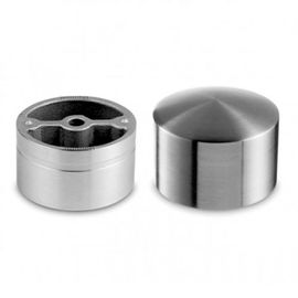 Round 304 316 316L Stainless Steel End Caps 42.4mm For Wooden Handrail