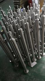 Satin / Mirror Stainless Steel Balustrade Posts For Glass Railing System