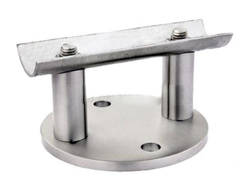 Durable V2A V4A Wall Mount Bracket For Stainless Steel Railing Balusters