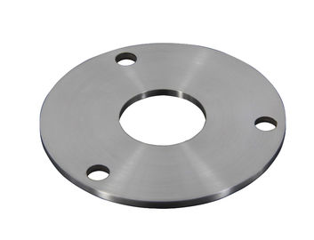 China AISI Stainless Steel Railing Components / Post Base Plate With 3 Fixing Holes factory
